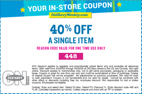 Old Navy 40% Off