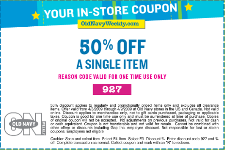 Old Navy 50% Off