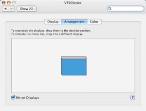 Macintosh System Preferences Arrangement Tab Mirror Displays